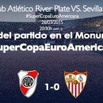 Final del partido @CARPoficial 1-0 #SevillaFC River se lleva la #SuperCopaEuroAmericana #vamosmisevilla http://t.co/nztllxiQXm