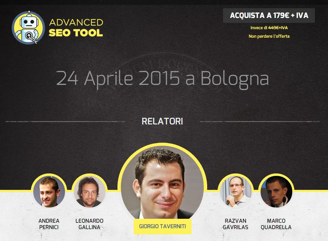 Ci saranno anche @cognitiveSEO e @lsg_business all'Advanced SEO Tool di Bologna. Non mancate http://t.co/mZ6tAeERFn http://t.co/uBitAx1y0f