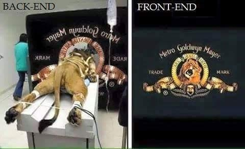 A new definition to #Backend & #Frontend. #UI #UX http://t.co/CVbr0yLfLk