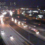 What a difference a day makes! NB I-5 drive through Tacoma is wide open. #wakeupwithus http://t.co/YOhpDN17R8