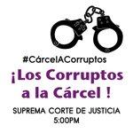 A partir de las 5:00 p.m., estaremos frente a la SCJ, mostrando nuestro descontento con la justicia #CárcelACorruptos http://t.co/qe54GL6g5I