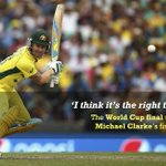Just in - Michael Clarke will retire from ODI cricket after the World Cup final. Details: http://t.co/REVhf915iB http://t.co/gMeyBJ8oWX