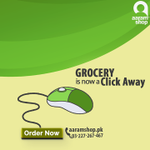 Grocery is now a click away #Aaramshop #ShopKaroAaramSe #Karachi #Lahore http://t.co/yRsgSbi61j