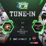 **PUCK DROP ALERT** @msumavericks vs. @RITMHKY Watch now on ESPNU #ncaaHockey http://t.co/0IBNUCAlB4