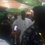 INEC Chairman arrives for presser #Nigeriadecides http://t.co/doZvk3xkH8