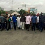 APC supporters protest Saturdays presidential, NASS election in Rivers #NigeriaVotes http://t.co/PfsjXOH5Uc http://t.co/Pa0Kxo3NhG