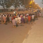 """""""@Bauchi_Facts: Despite The Curfew In The State People Are At The INEC Office Some Even Prayed Magrib Prayers There http://t.co/XkHj3qLTQU"""""""