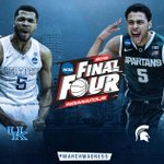 Saturday on TBS (ET) 6:09: Duke vs Michigan State Approx 8:49: Kentucky vs Wisconsin #FinalFour http://t.co/FdFtM4im0j
