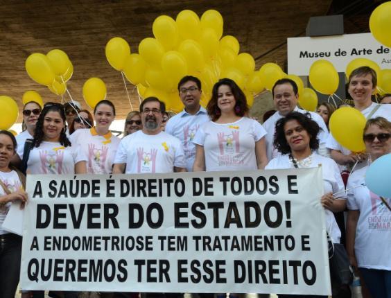 Endometriose: marcha em SP http://t.co/f9mFuF1HST #Fotos #saúde #endometriose