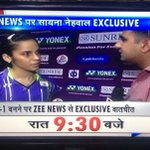 Watch @NSaina Nehwal exclusive on @ZeeNews at 6:30 pm with me @sardanarohit http://t.co/dSTK9DnnJi