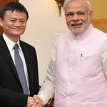 Alibaba group founder and executive chairman Jack Ma calls on PM Narendra Modi. NEWS FLASH http://t.co/FRCiU9181q