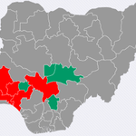 After 8 states & FCT GEJ 3 states + FCT GMB 5 states GEJ 2,322,734 GMB 2,302,978 Definitely, NE+NW > SE+SW http://t.co/Mzo0ac3s7B