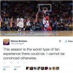 VIDEO: Jordan Clarkson's game-winner upsets Lakers fans hoping for a better lottery pick http://t.co/vIYH0ojTVP http://t.co/l8wGHhPDMK