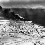 #Libya #History: Aerial view of #Tobruk showing petrol containers ablaze after attacks by Allied Forces in 1941. http://t.co/Jsjk3QshZL
