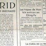 Descubren un artículo perdido de #AntonioMachado sobre #Madrid http://t.co/MIzrjyCmgJ @Cadenaser_espa http://t.co/5C9yakH9p0