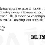 #Hemeroteca (16/06/1986) Artículo de Octavio Paz en @el_pais http://t.co/cJN15ZTMRa Hoy hubiese cumplido 100 años http://t.co/ZuS7U6v4Cb