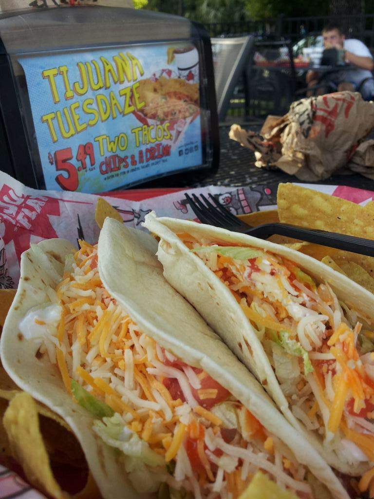 #Tacos are a #gift and #TijuanaFlats is in the giving mood ;).  #RT for the chance to win a #free pair on us! http://t.co/uMtt3Nz9P3