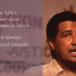 Cesar Chavez is an American hero. On #CesarChavezDay, honor him by marching on. #SiSePuede http://t.co/ME4oOn5rcg