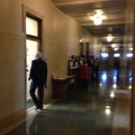 Paiges are being asked to stay in the hallway as well. No one is allowed in the chamber.@1011_News http://t.co/FDTJ2Qyje1