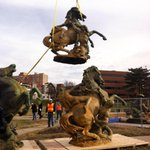 The horses are being reinstalled tomorrow at #KCParks J.C. Nichols Fountain! #Cityof Fountains http://t.co/adhD2xMKTf