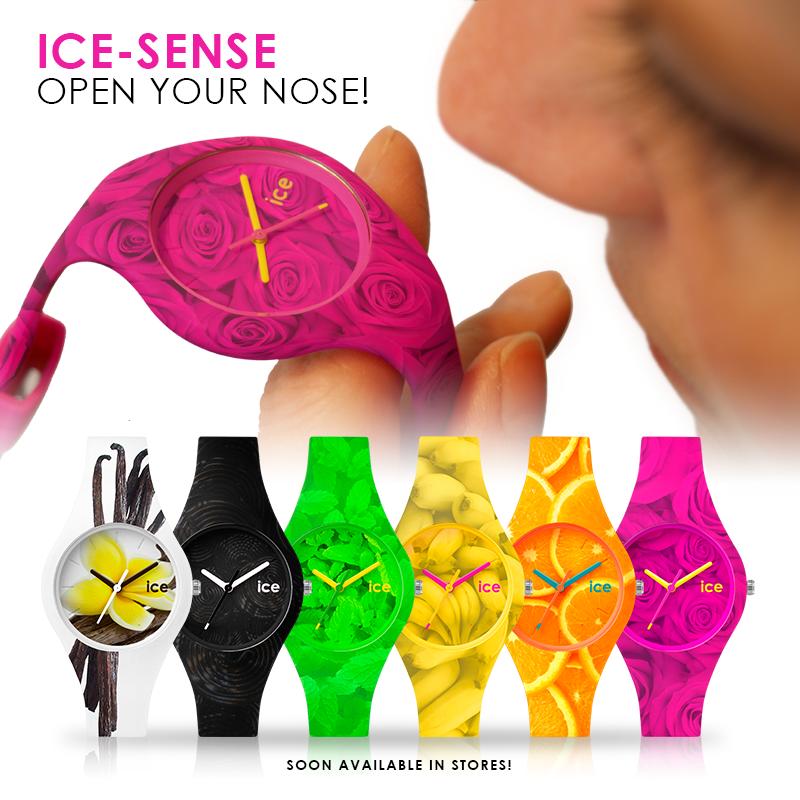The wristband of the Ice-Sense smells like vanilla, liquorice, mint, banana, orange and rose. http://t.co/8smMjvFjWe