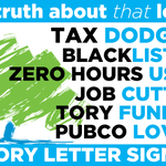 Taxdodgers and blacklisters and donors... oh my! That Tory list from earlier today. #SameOldTories http://t.co/kbtc5KLede