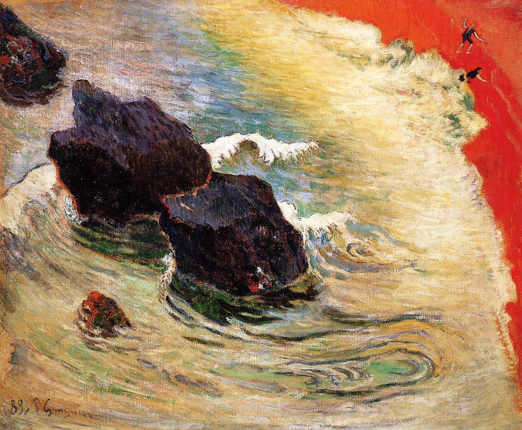 The wave Paul Gauguin (1888) #dailyart http://t.co/RJgpiDl9x1