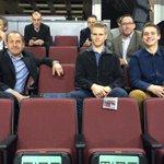 #Canucks prospects Mackenzie Stewart and Jake Virtanen taking in skate this morning. http://t.co/C1xAGuKwV1