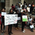 Silence will be observed until 12pm, the march is against the recent #xenophobicattacks #SABCNews http://t.co/Rt3YtGcWZs