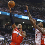 The @WashWizards outlast the @Raptors to get the 93-86 overtime win and take a 1-0 series lead. #RAPTORSvWIZARDS http://t.co/xLa36SPtmh