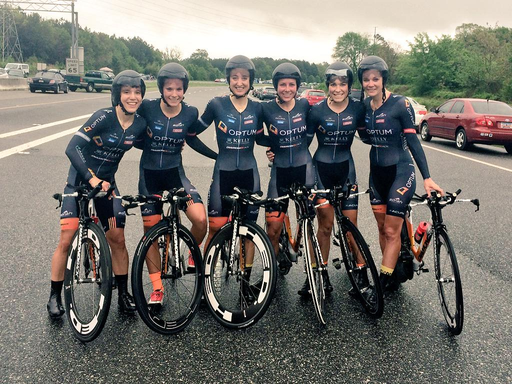 Women just won the first US natl TTT title in history!! By a comfortable 34 sec. gap. That's six very happy ladies! http://t.co/82xO2em5Lr