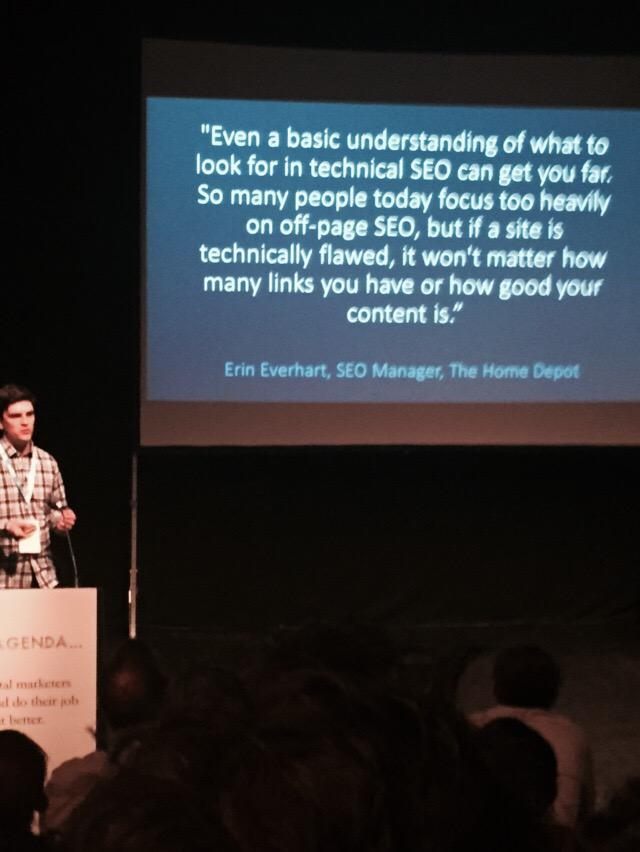 Technical SEO is important! #BrightonSEO @DeepCrawl http://t.co/i1N5k3AKP7