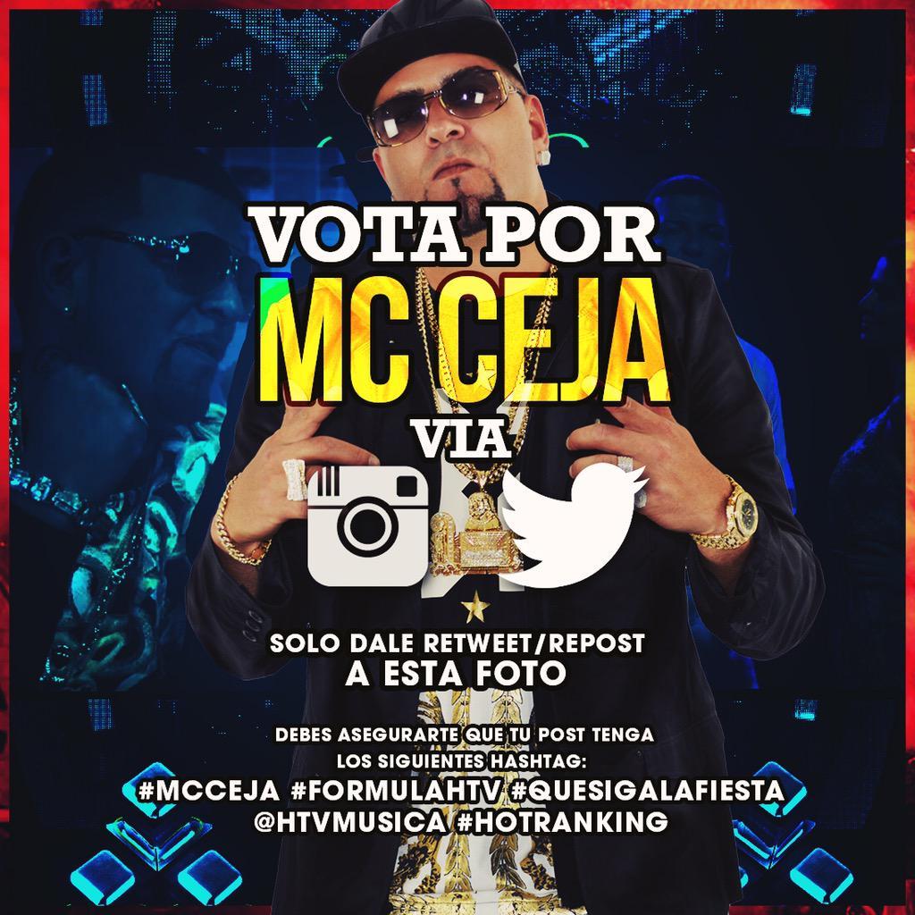 Voto por @mcceja #QueSigaLaFiesta para que ingrese al #HotRanking #FormulaHTV #HTVMusica @htvmusica #MCCeja http://t.co/DG7bYi8Og4