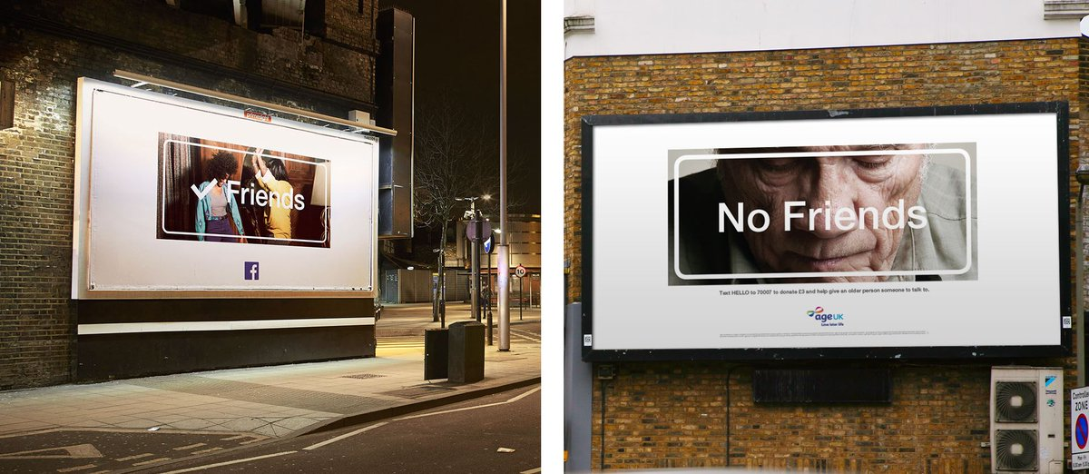 No Friends - @ageuk and @JWT_London launch striking campaign to call the loneliness in our country to mind #nofriends http://t.co/OfRN1YVqEh