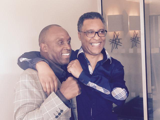 British boxing legends Nigel Benn and Michael Watson reunited moments ago near Heathrow.... http://t.co/hpkMSo1NXL
