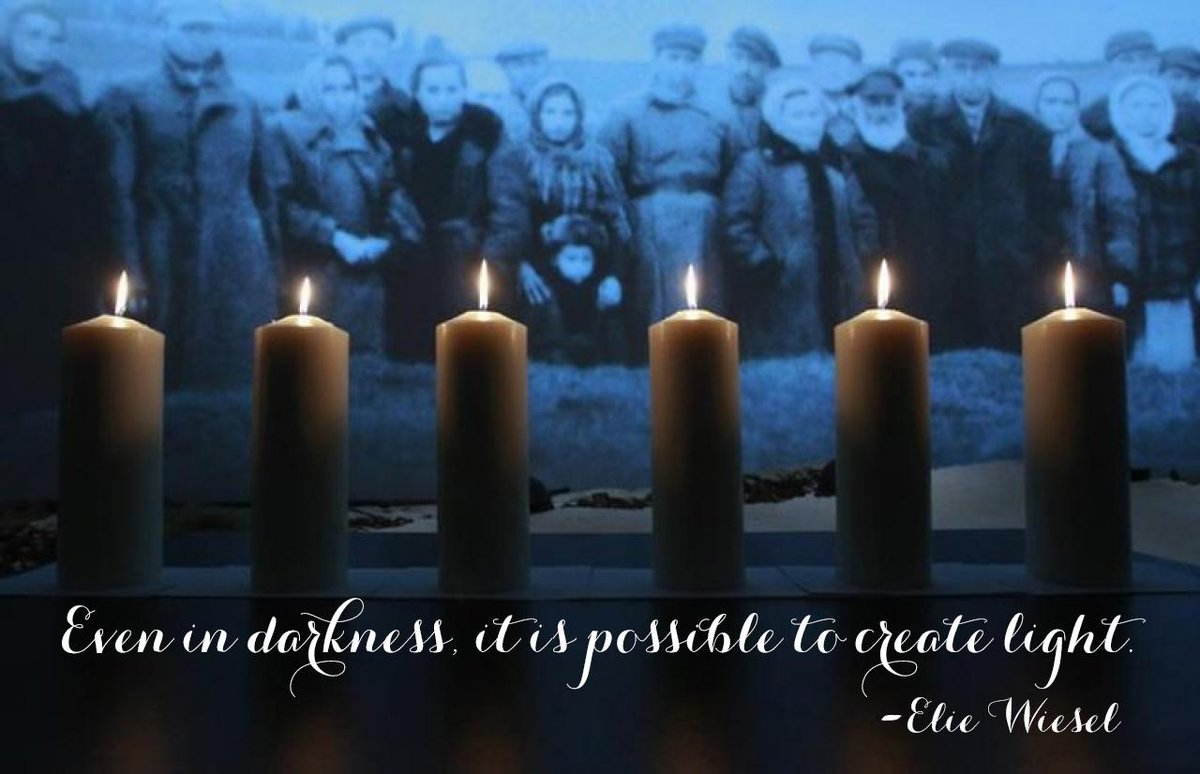 """""""Even in darkness, it is possible to create light."""" - Elie Wiesel #HolocaustRemembranceDay #NeverAgain #NeverForget http://t.co/73EXR3H8yk"""