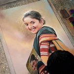 This is a #rangoli made by a rangoli artist in a village in #Maharashtra. #Unbelievable! 👍 http://t.co/qIL4H3U44K