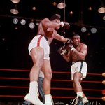 The sixth round of the famous Ali-Liston fight, 1964. Photo: Herb Scharfman http://t.co/NsMS9hgEW3