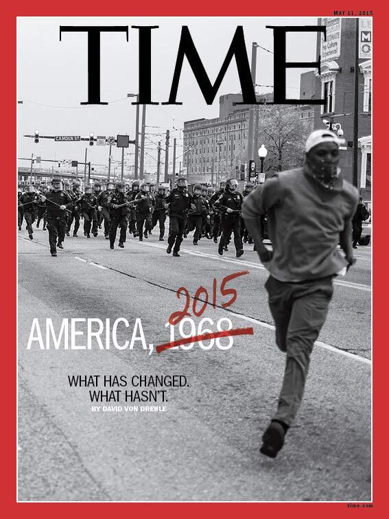 La une très forte de 'Time'. #Baltimore