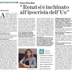 Le parole chiari e forti della sindaca di Lampedusa @giusi_nicolini: Renzi si è inchinato allipocrisia dellUE http://t.co/6Pr90cwbf8