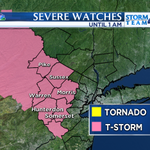 Small hail, damaging winds, downpours, & lightning possible in this area until 1am, more from @StormTeam4NY at 11! http://t.co/kjcXxpymAR
