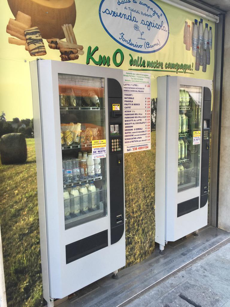 Other cities have Coke machines on the street. In Parma there's 24hr access to Parmesan cheese. @telegraphtravel http://t.co/LhWrwvsa9y