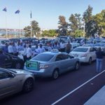 Hundreds of #Perth taxi drivers in Parliament protest: http://t.co/fU3aYeRiDo #PerthNews http://t.co/oEap7U5xI9