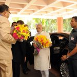 PM Shri narendramodi arrives at Civil Services Day function, in New Delhi http://t.co/MXHfIoE3Tr #MyCleanIndia #MakeInIndia #MannKiBaat #…