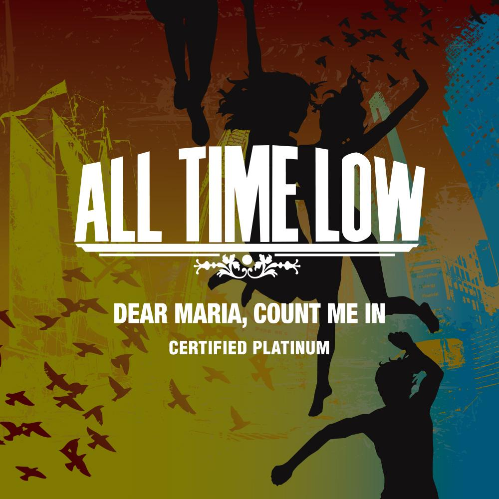 "CONGRATULATIONS @ALLTIMELOW!! ""Dear Maria, Count Me In"" is officially certified PLATINUM!!"