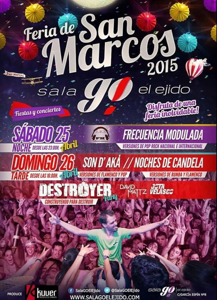 Vuelve @SALAGOelejido, vuelve @Destroyer_Party, vuelve San Marcos. Vuelve la droga que me encanta!! #queviene!! http://t.co/yRuluCgH5X