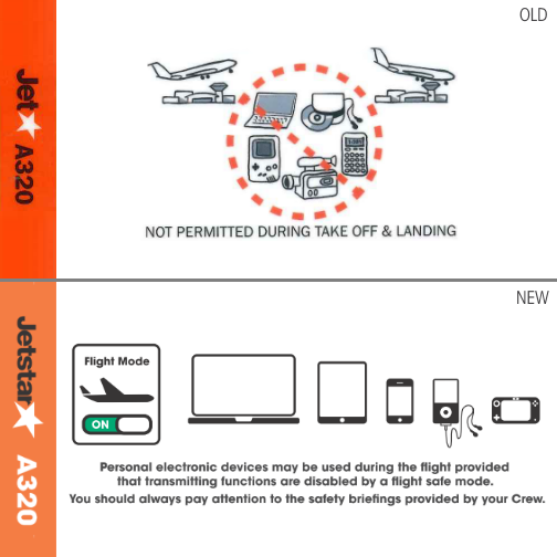 No more 90s gadgets: time to upgrade our A320 safety cards  When did you last use a Discman?