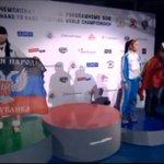 Украинская спортсменка по рукопашному бою вышла на пьедестал с флагом ДНР #ВИДЕО http://t.co/P0OlrHM0qE http://t.co/KMkHpDzpVE