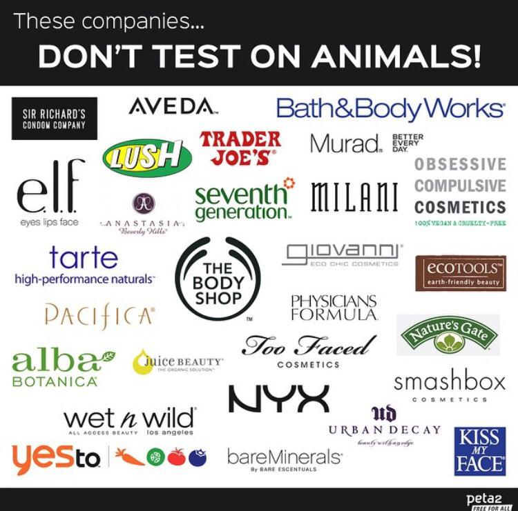 I mega ❤️❤️❤️ these companies that don't test on animals! Thank U @peta2 for this kickass infographic. #crueltyfree http://t.co/TOEJQ9MTIS