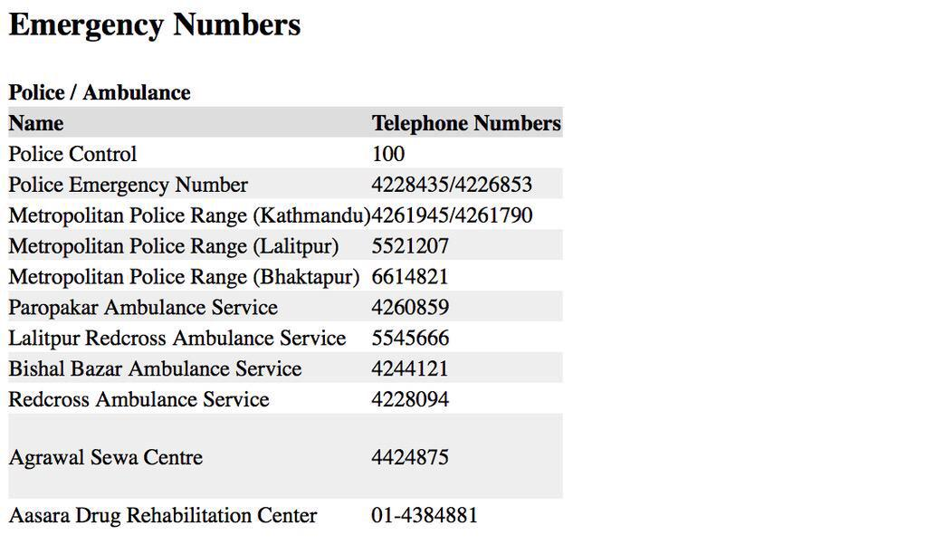 Emergency contact Numbers for Nepal. Spread the word guys please. http://t.co/DbIn2zuqSu
